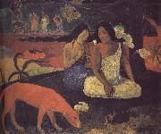 Paul Gauguin Happy Woman painting