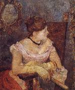 Paul Gauguin Evening dress of Mette painting
