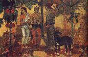 Paul Gauguin Holiday preparations painting