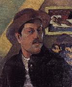 Paul Gauguin Hat self-portraits painting