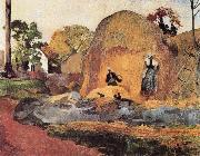 Paul Gauguin Harvest painting