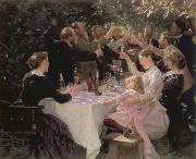 Peder Severin Kroyer hip hip hurrah artists party at skagen painting