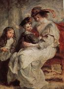 Peter Paul Rubens Helena Darfur Mans and her children s portraits painting