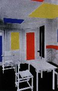 Piet Mondrian interior oil painting reproduction