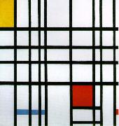 Pieter Cornelis (Piet) Mondriaan Composition with Yellow, Blue, and Red oil on canvas