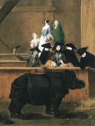 Pietro Longhi exhibition of a rhinoceros at venice china oil painting reproduction