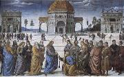 Pietro Perugino Christian kingdom of heaven will be the key to St. Peter's oil painting artist
