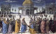 Pietro Perugino christ giving the keys to st.peter oil painting artist