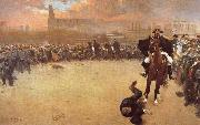 Ramon Casas i Carbo The Charge or Barcelona 1902 oil