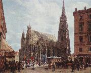 Rudolf von Alt View of Stephansdom oil