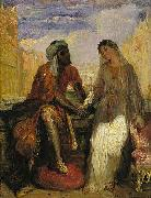 Theodore Chasseriau Othello and Desdemona in Venice painting