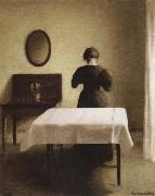 Vilhelm Hammershoi interior oil painting reproduction
