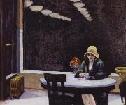 edward hopper automat oil on canvas