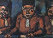 georges rouault the three judges oil