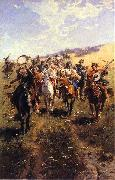 jozef brandt Cossack china oil painting reproduction