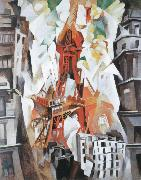 robert delaunay champs de mars la tour rouge oil