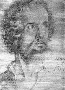 Albrecht Durer Head of St Mark painting