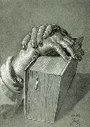 Albrecht Durer Hand Study with Bible - Drawing painting