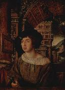 Ambrosius Holbein Portrait of a Young Man, oil on canvas