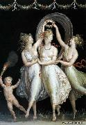 Antonio Canova The Three Graces Dancing oil on canvas