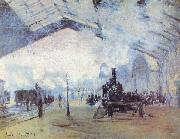 Claude Monet Saint Lazare Train Station oil painting reproduction