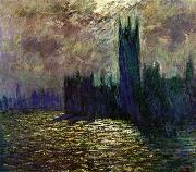 Claude Monet Houses of Parliament painting