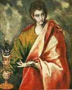 El Greco st john the evangelist oil painting reproduction