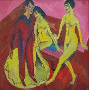 Ernst Ludwig Kirchner Dance School, oil painting reproduction