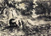 Eugene Delacroix The Death of Ophelia china oil painting artist