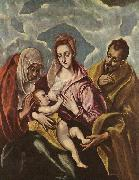 GRECO, El Holy Family with painting