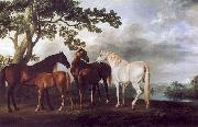 George Stubbs Mares and Foals in a Landscape. china oil painting reproduction
