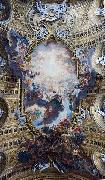 Giovanni Battista Gaulli Called Baccicio The Worship of the Holy Name of Jesus, with Gianlorenzo Bernini, on the ceiling of the nave of the Church of the Jesus in Rome. oil on canvas