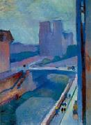 Henri Matisse A Glimpse of Notre Dame in the Late Afternoon oil painting reproduction
