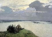Isaac Levitan Over Eternal Peace painting