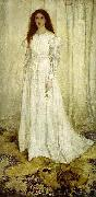 James Abbott Mcneill Whistler Symphony in White, oil on canvas