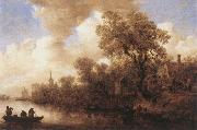 Jan van Goyen River Scene oil painting