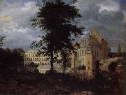 Jan van der Heyden Old Palace landscape painting