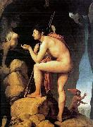 Jean Auguste Dominique Ingres Oedipus and the Sphinx painting