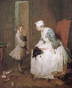 Jean Baptiste Simeon Chardin Home teachers painting