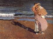 Joaquin Sorolla Her children painting