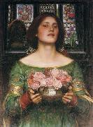 John William Waterhouse Gather Ye Rosebuds While Ye May... oil painting reproduction