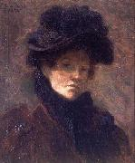 Lilla Cabot Perry Self Portrait oil on canvas