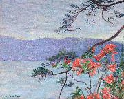 Lilla Cabot Perry Suruga Bay, Azaleas, oil on canvas