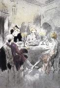 Louis Lcart Dinner oil painting reproduction