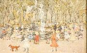 Maurice Prendergast In Central Park New York ( oil painting reproduction