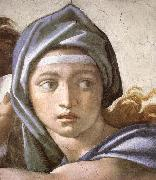 Michelangelo Buonarroti The Delphic Sibyl oil painting reproduction