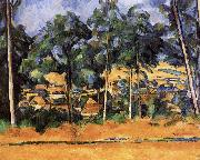 Paul Cezanne of the village after the tree painting