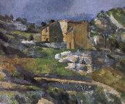 Paul Cezanne house near the valley painting