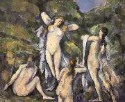 Paul Cezanne Bath four women who oil painting on canvas