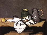 Paul Cezanne have a bottle of still life painting